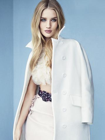 维密超模罗茜-汉丁顿-惠特莉登英国Elle杂志封面
