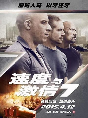 电影《速度与激情7》刷新多项票房记录