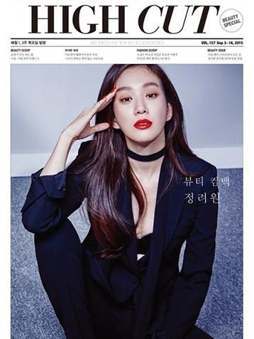 韩国女艺人郑丽媛杂志写真