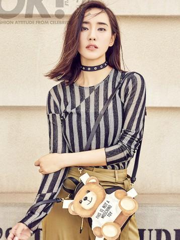 王智街拍演绎另类时尚