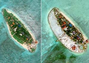 中方:越南在中国南沙20多个岛礁填海造地