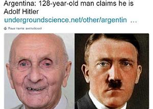 希特勒回来了?阿根廷128岁老翁自称是希特勒